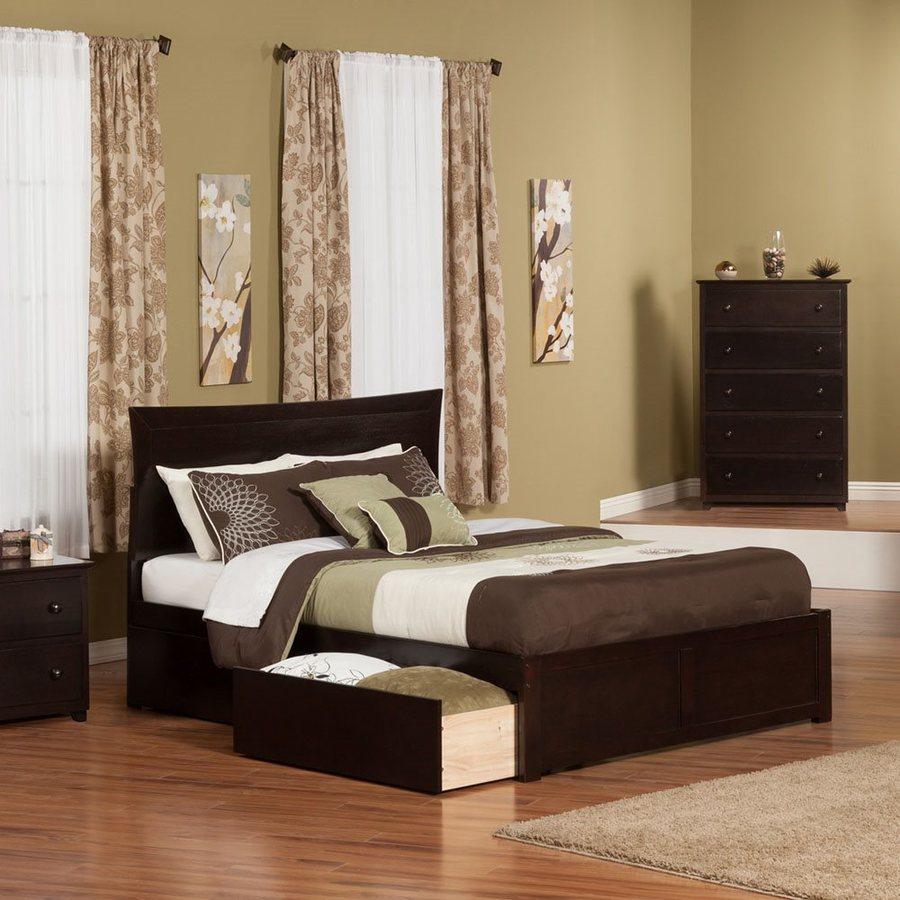Atlantic Furniture Metro Espresso King Platform Bed With Storage