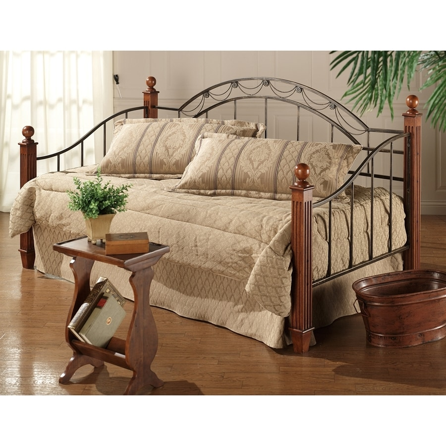 Hillsdale Furniture Camelot Black/Gold Twin Trundle Bed