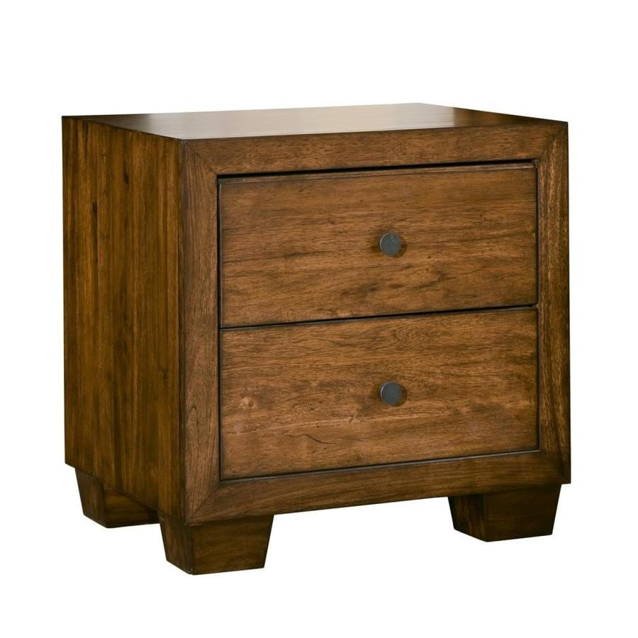 Modus Furniture Angelo:Home Chelsea Park Macchiato Asian Hardwood Nightstand