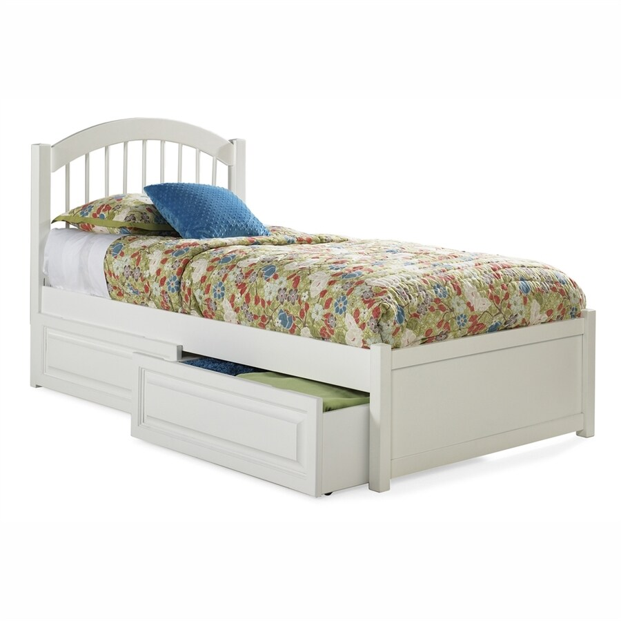 Atlantic Furniture Windsor White Twin Platform Bed
