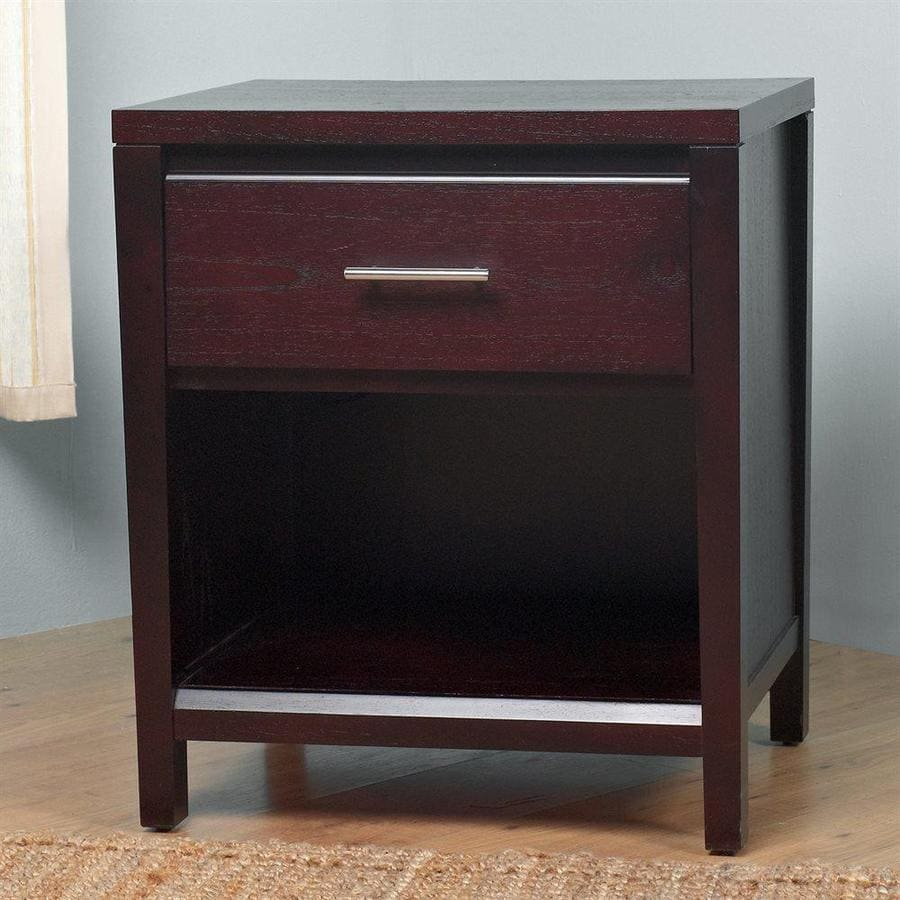 Modus Furniture Nevis Espresso Mahogany Nightstand At Lowes Com
