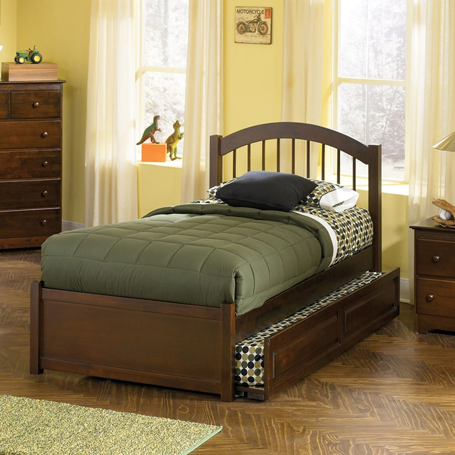 Atlantic Furniture Windsor Antique Walnut Twin Platform Bed