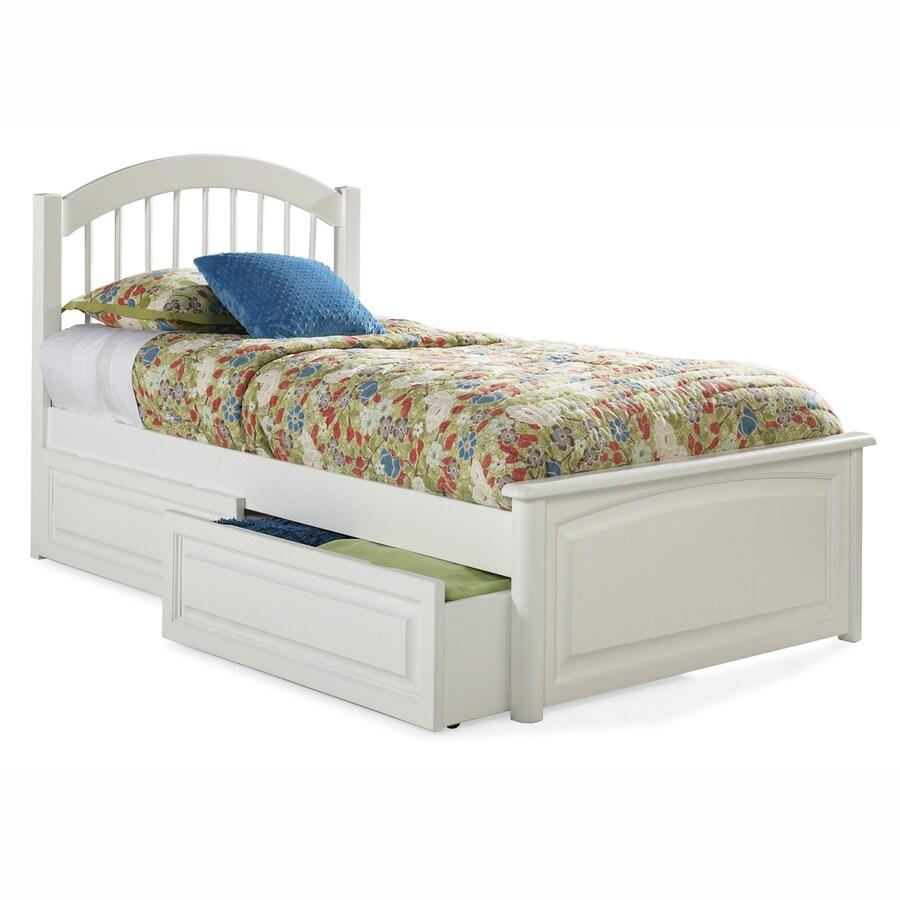 Atlantic Furniture Windsor White Twin Platform Bed