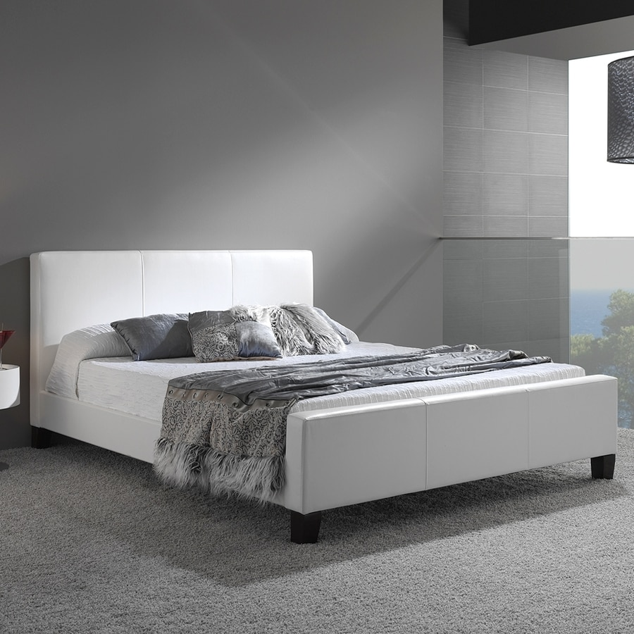 Fashion Bed Group Euro White King Platform Bed