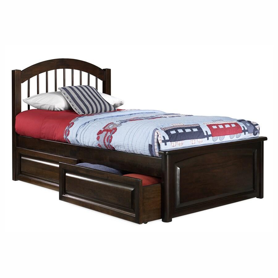 Atlantic Furniture Windsor Antique Walnut Twin Platform Bed