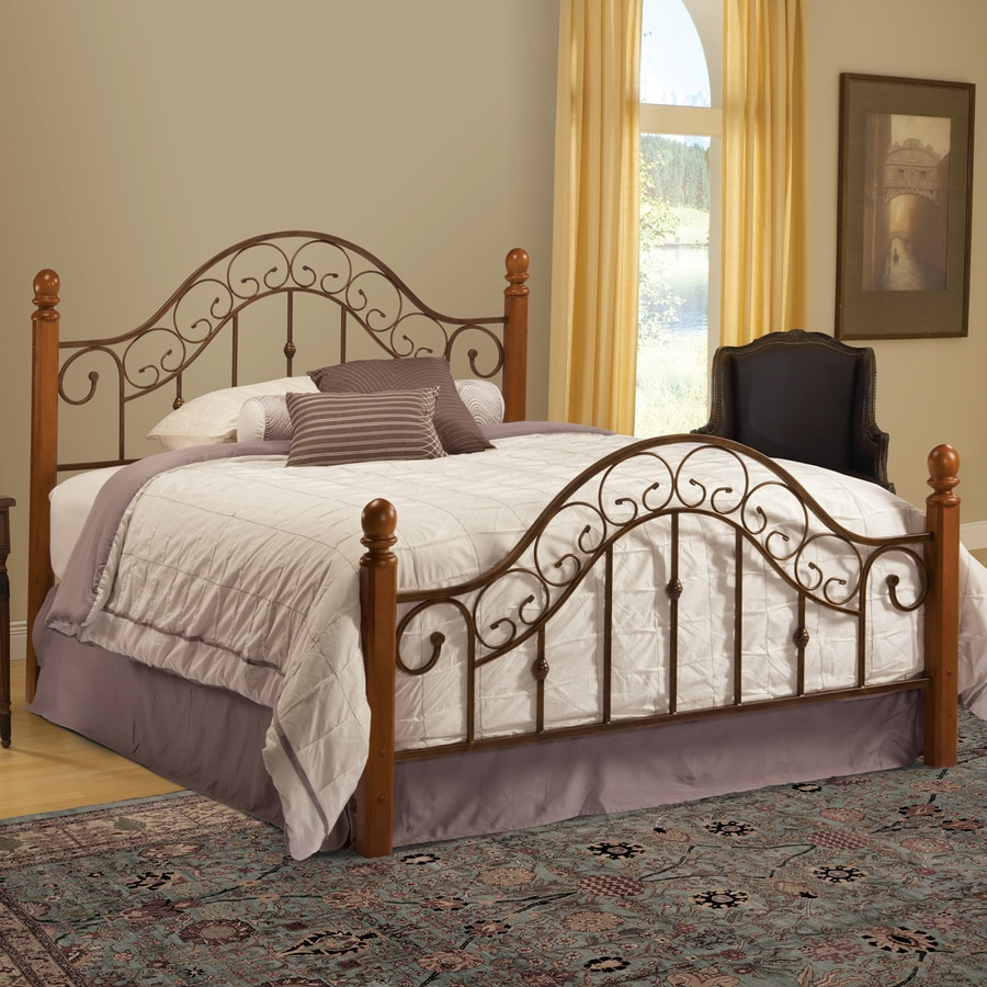 Hillsdale Furniture San Marco Light Rust/Brown King 4-Poster Bed