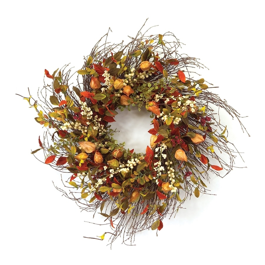Melrose International 20-in Fall Harvest Gooseberry Artificial Thanksgiving Wreath