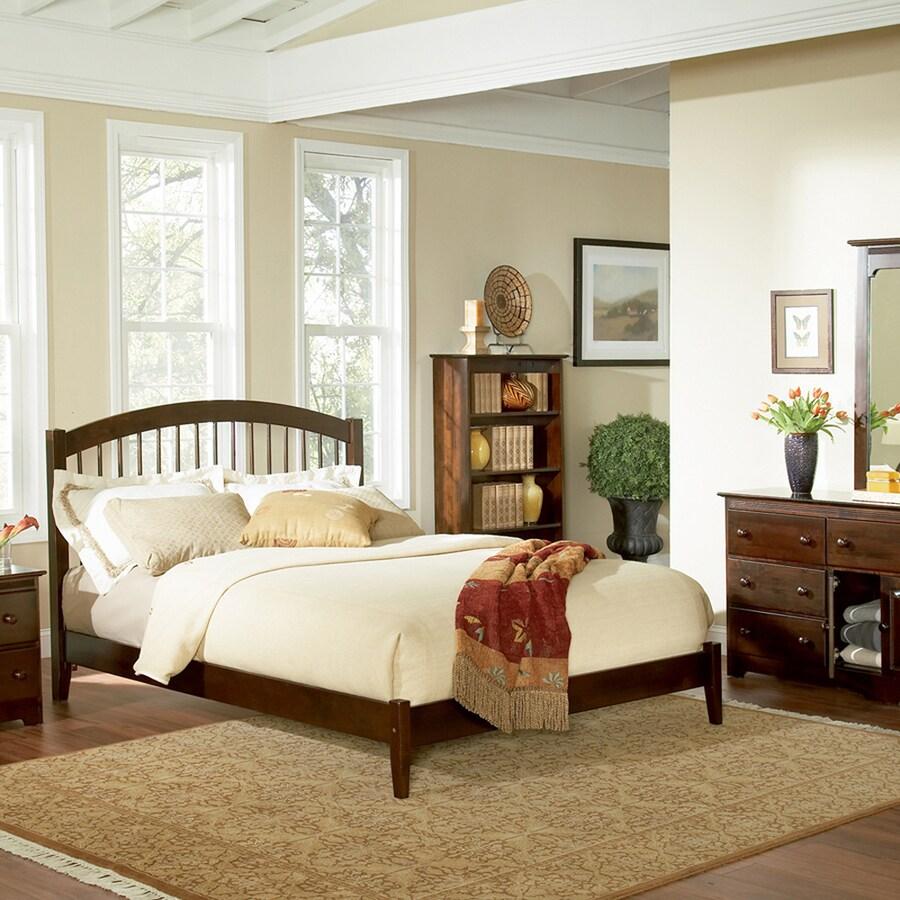 Atlantic Furniture Windsor Antique Walnut Queen Platform Bed