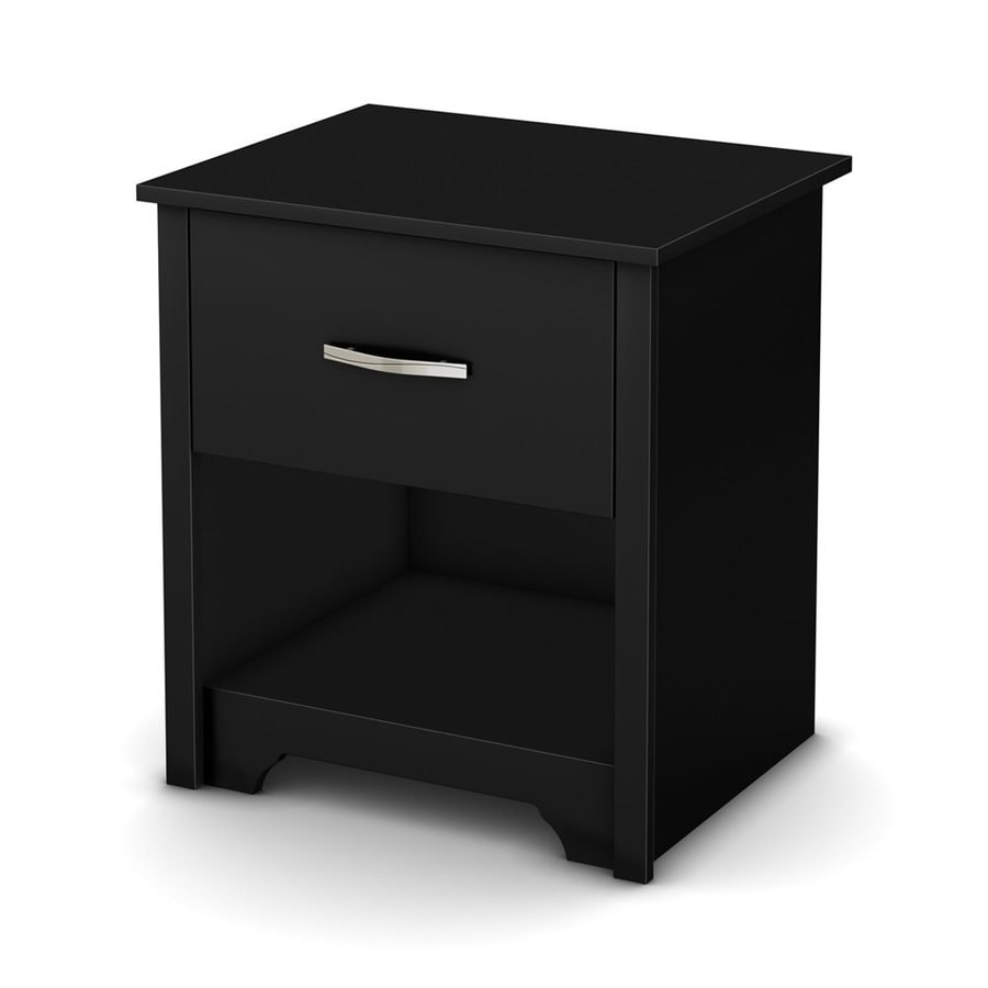 South Shore Furniture Fusion Pure Black Nightstand