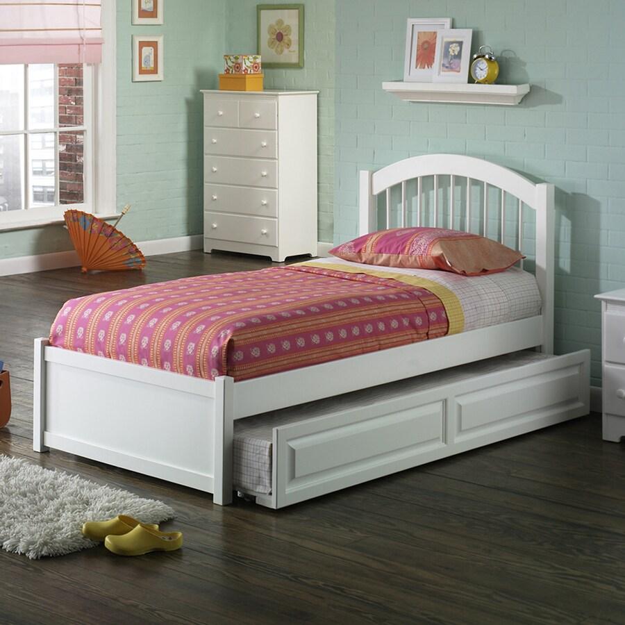 Atlantic Furniture Windsor White Queen Platform Bed