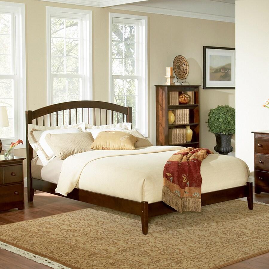 Atlantic Furniture Windsor Antique Walnut King Platform Bed