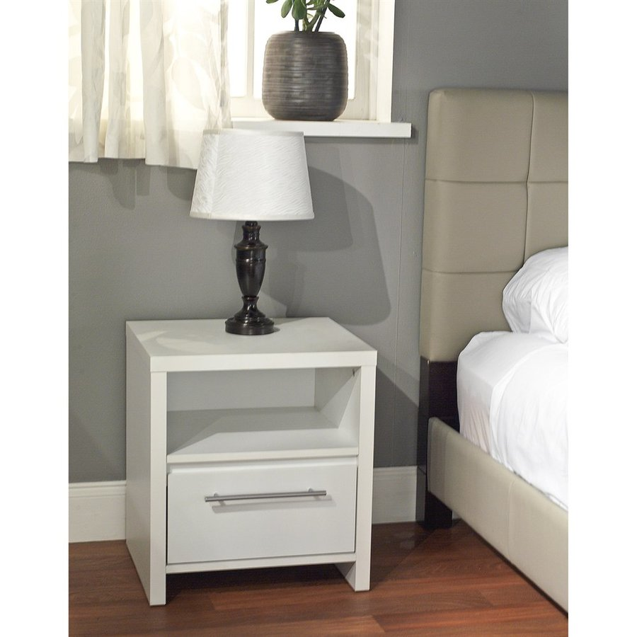 TMS Furniture White Nightstand