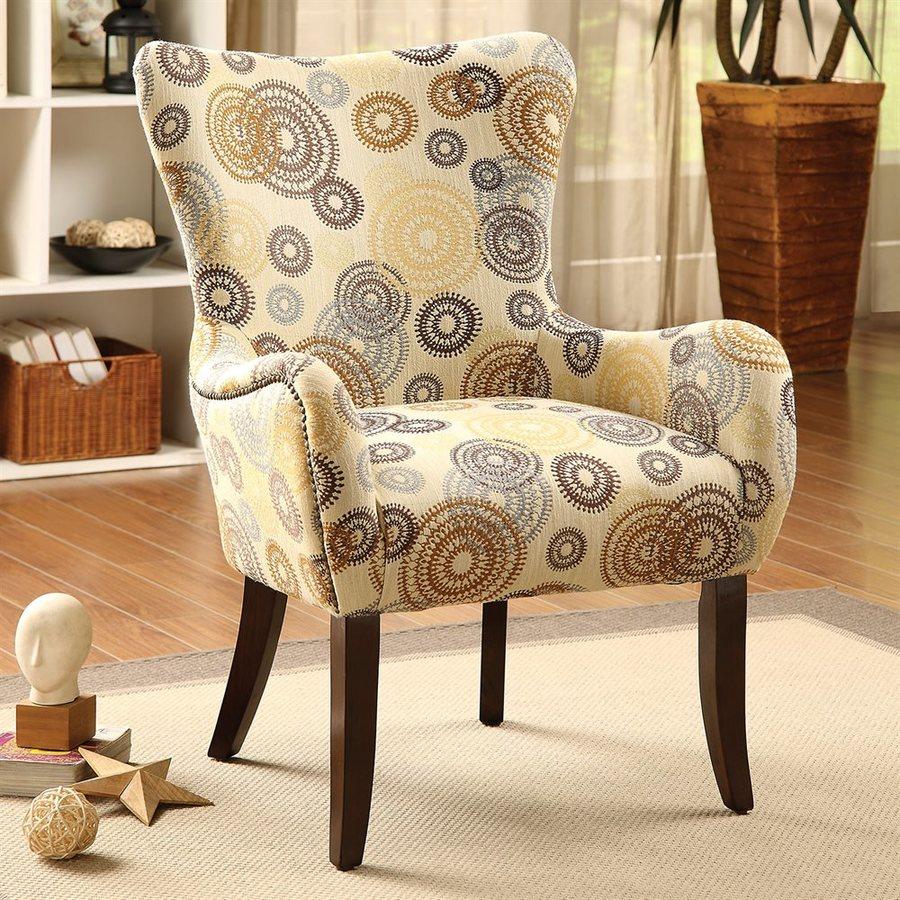 ACME Furniture Gabir Modern Beige Wingback Chair