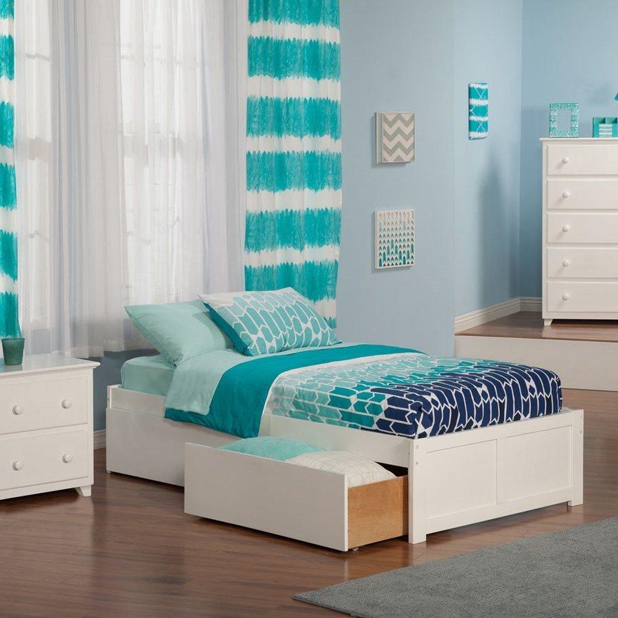 Atlantic Furniture Concord White Twin Xl Platform Bed