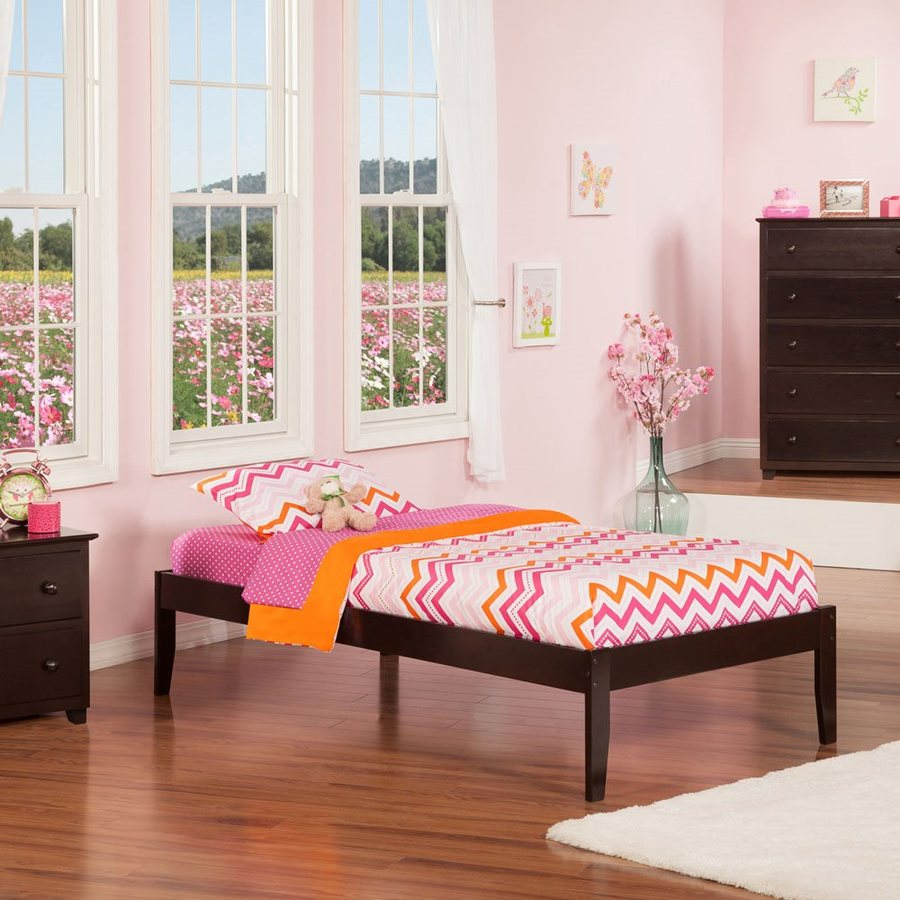 Atlantic Furniture Concord Espresso Twin Platform Bed