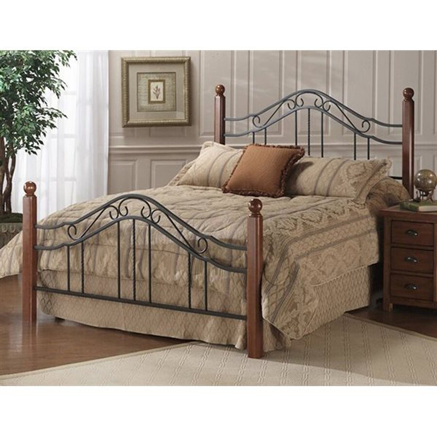Hillsdale Furniture Madison Walnut/Textured Black Full 4-Poster Bed