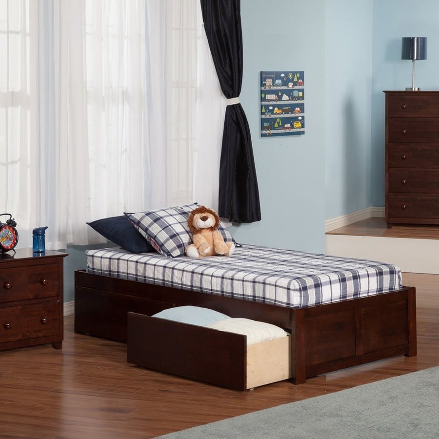 Atlantic Furniture Concord Antique Walnut Twin Platform Bed