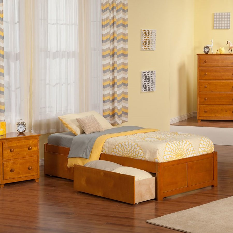 Atlantic Furniture Concord Caramel Latte Twin Platform Bed