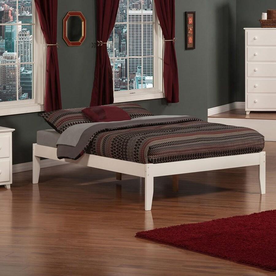 Atlantic Furniture Concord White Full Platform Bed