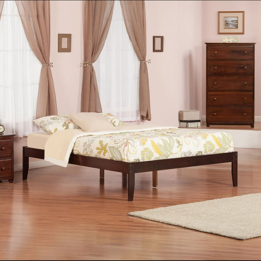 Atlantic Furniture Concord Antique Walnut Queen Platform Bed