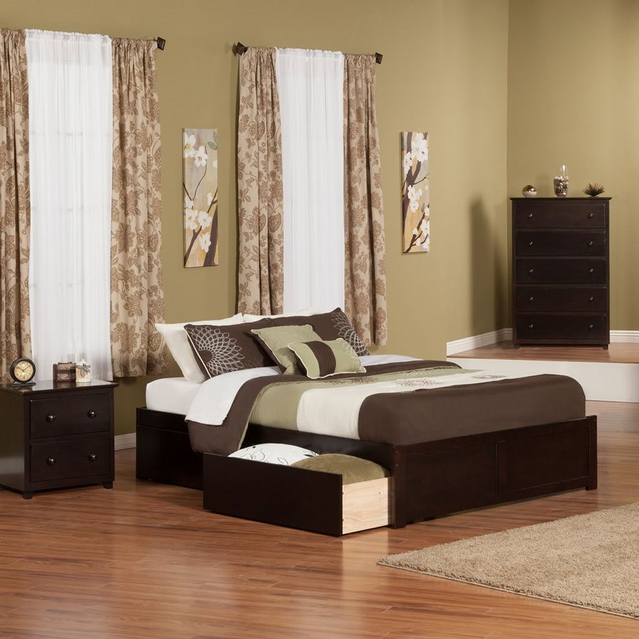 Atlantic Furniture Concord Espresso Queen Platform Bed