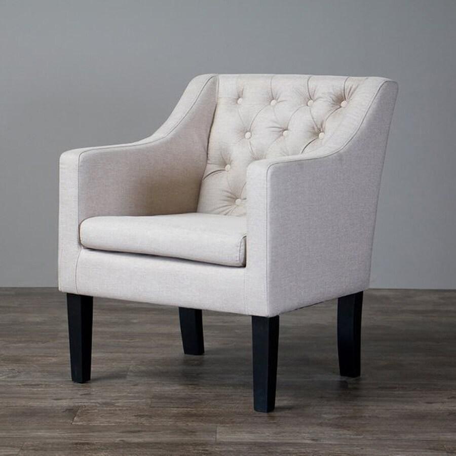 Baxton Studio Brittany Modern Beige Linen Club Chair