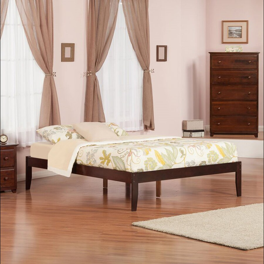 Atlantic Furniture Concord Antique Walnut King Platform Bed