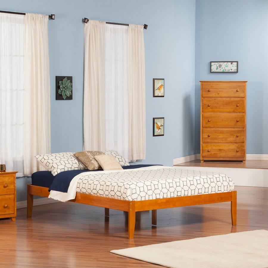 Atlantic Furniture Concord Caramel Latte King Platform Bed