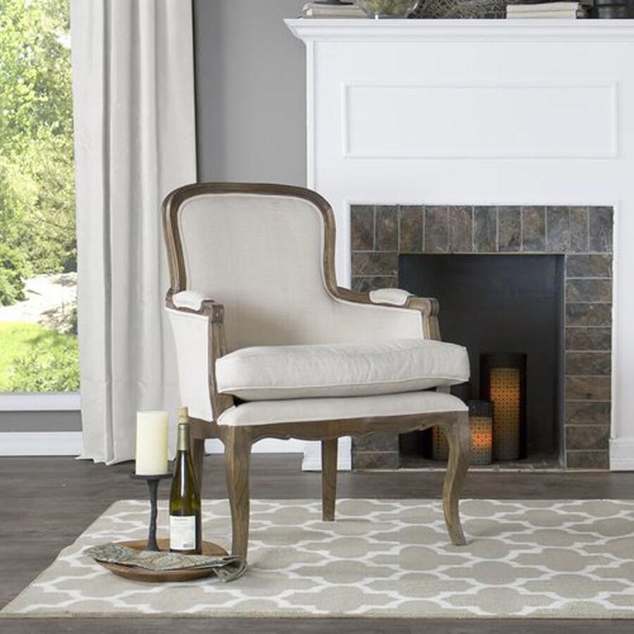 Baxton Studio Napoleon Country Beige Polyurethane Accent Chair