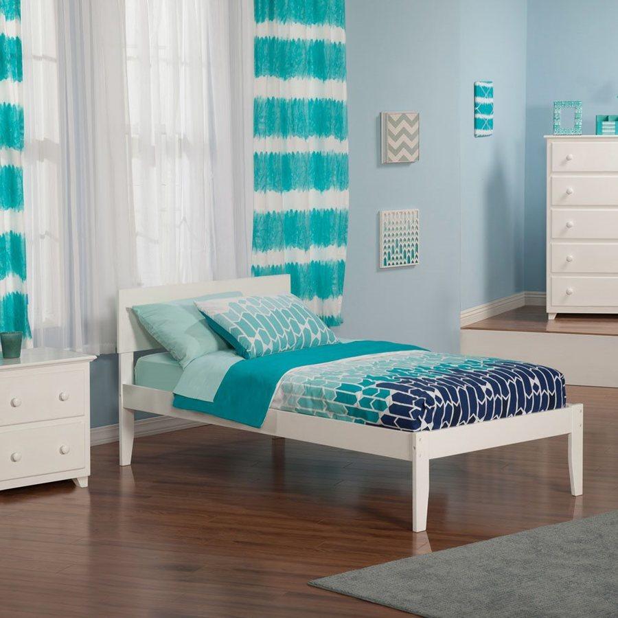 Atlantic Furniture Orlando White Twin Xl Platform Bed