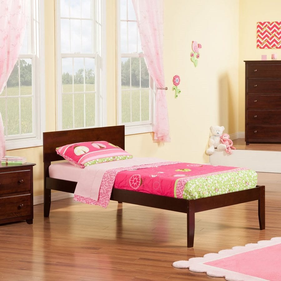 Atlantic Furniture Orlando Antique Walnut Twin Xl Platform Bed
