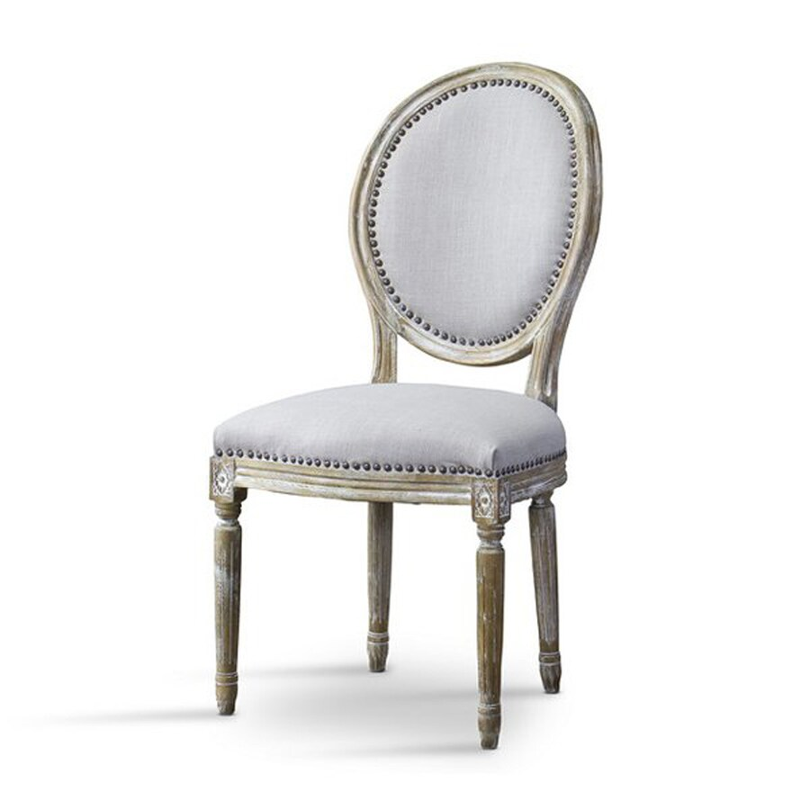 Baxton Studio Clairette Country Beige Polyurethane Accent Chair