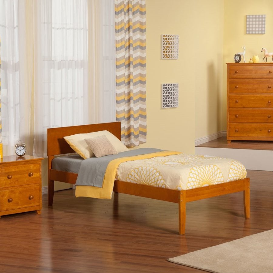 Atlantic Furniture Orlando Caramel Latte Twin Platform Bed