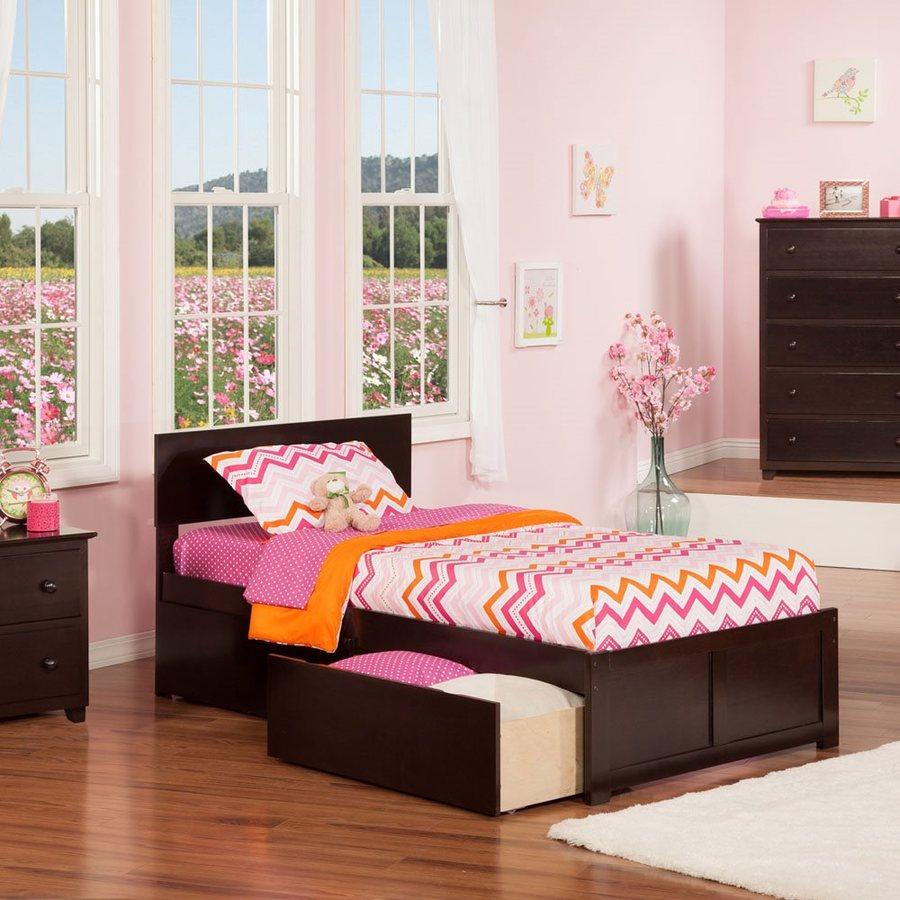 Atlantic Furniture Orlando Espresso Twin Platform Bed With Storage