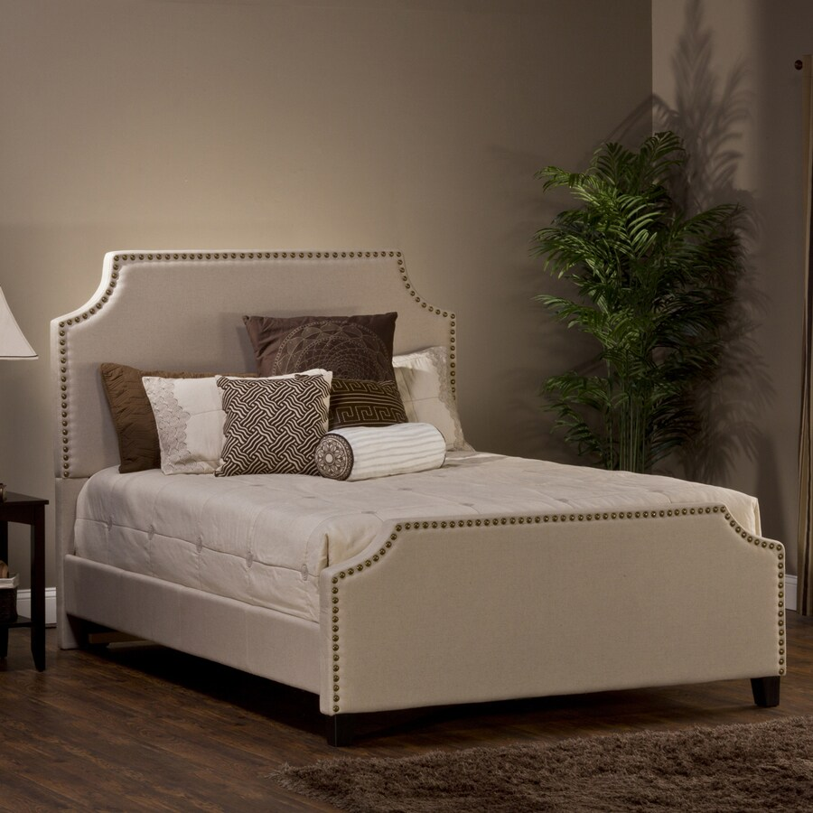 Hillsdale Furniture Dekland Linen Stone California King Upholstered Bed