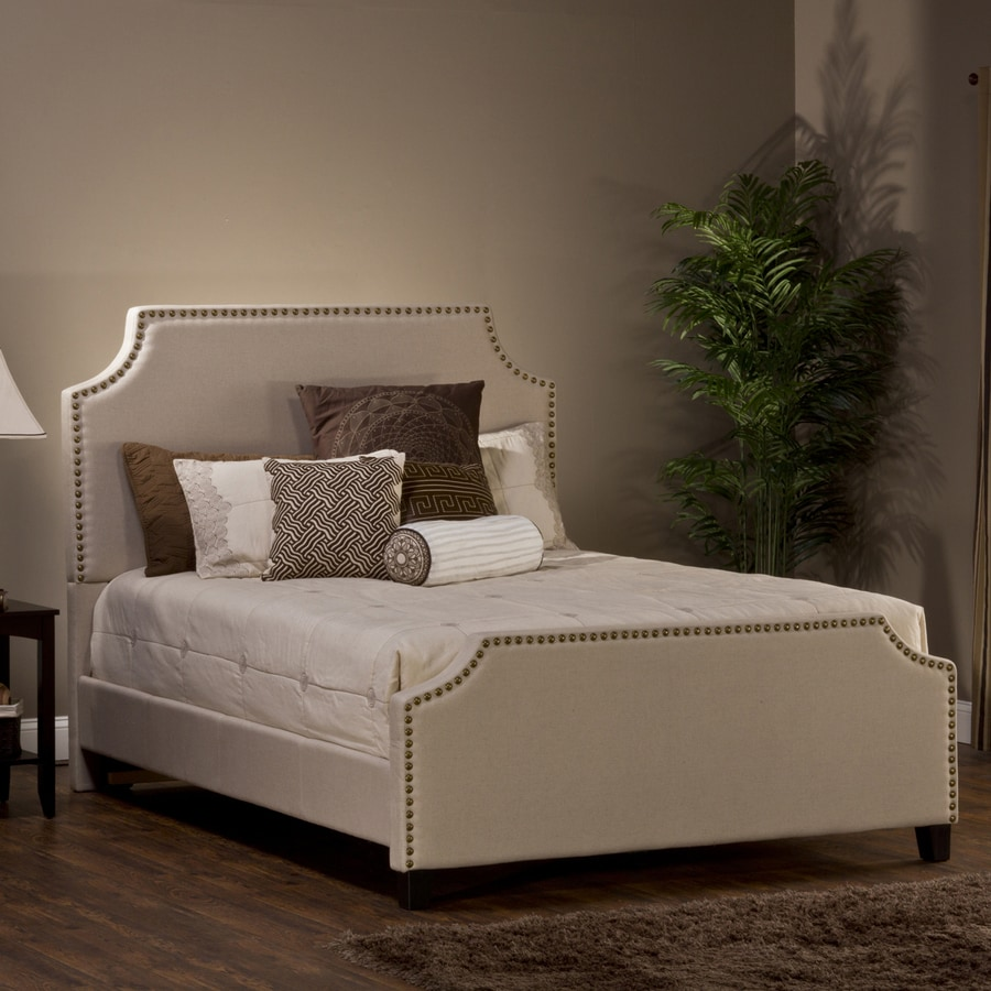 Hillsdale Furniture Dekland Linen Stone Queen Upholstered Bed