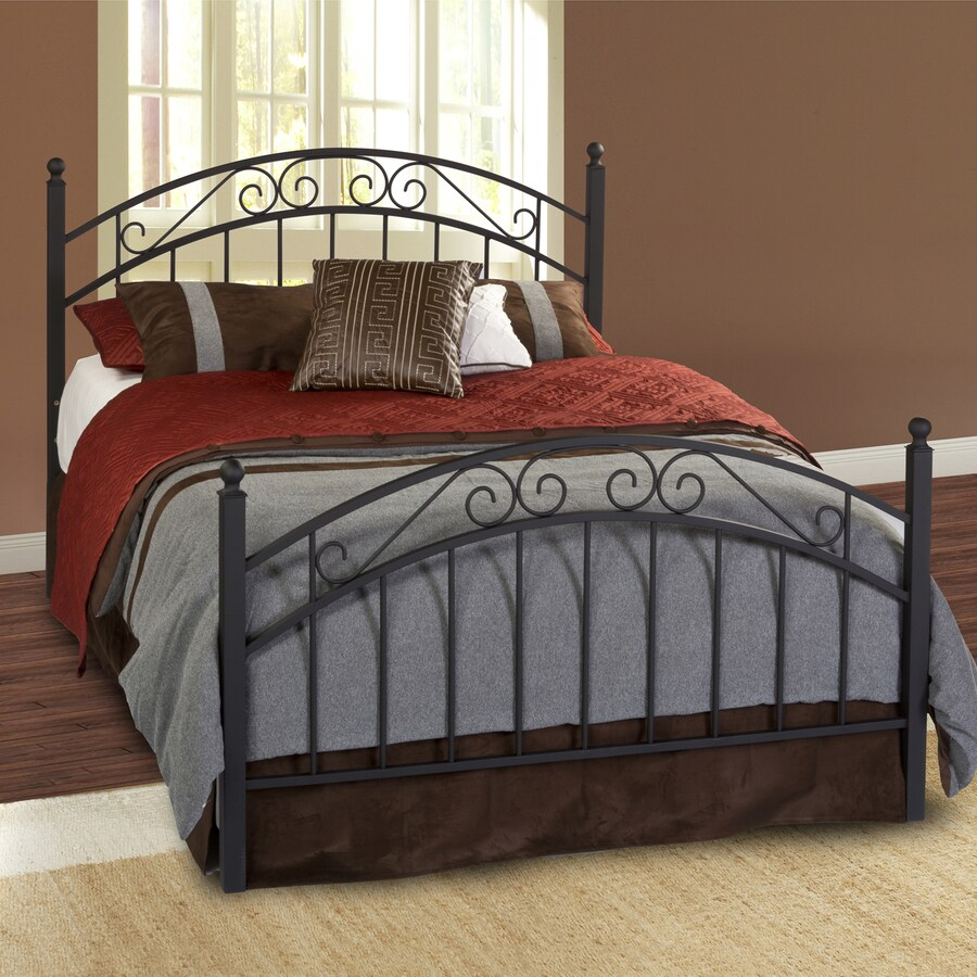 Hillsdale Furniture Willow Textured Black Full 4-Poster Bed