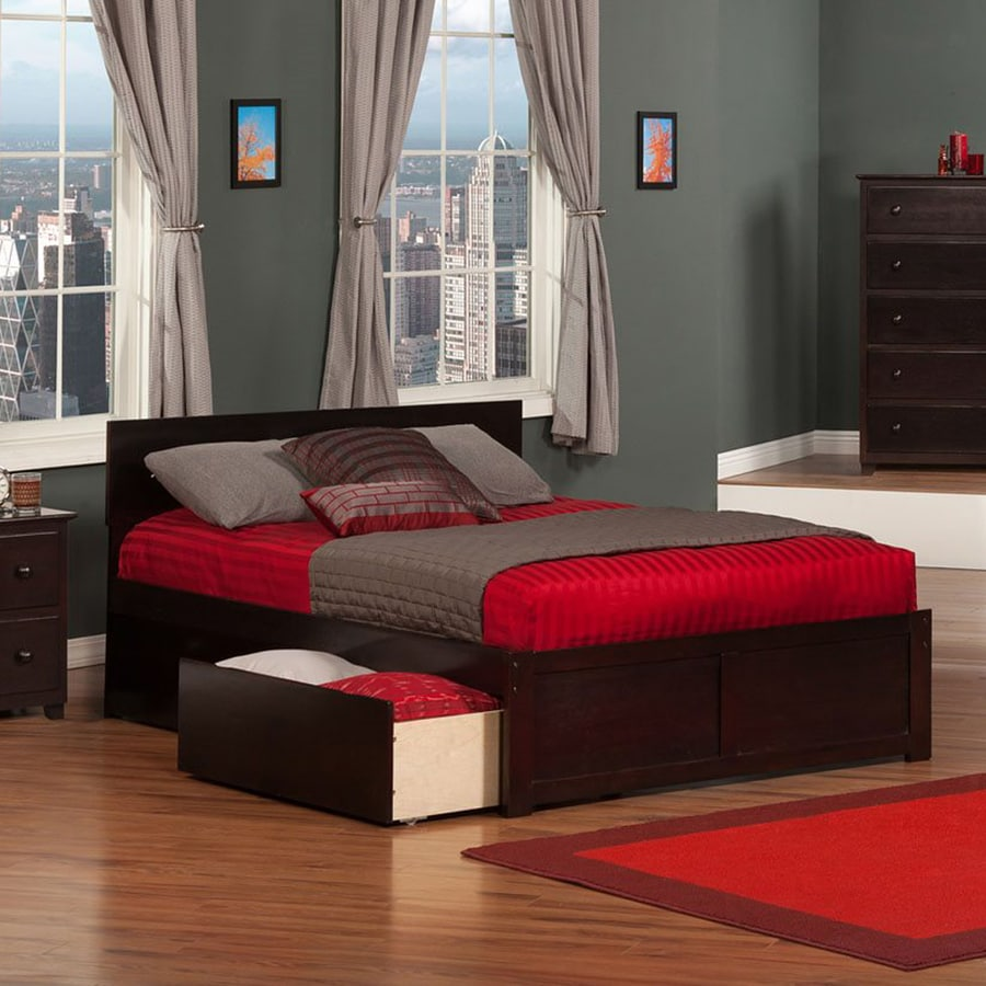 Atlantic Furniture Orlando Espresso Full Platform Bed With Storage