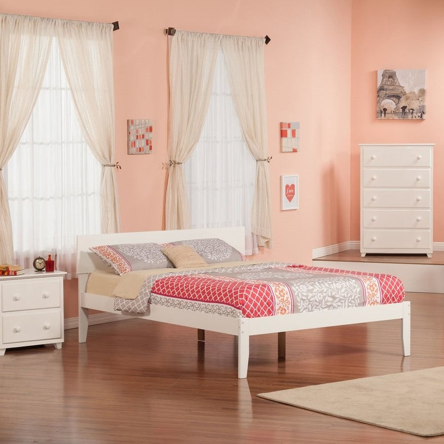 Atlantic Furniture Orlando White Queen Platform Bed