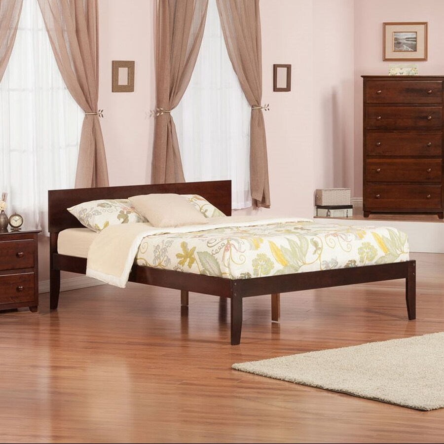Atlantic Furniture Orlando Antique Walnut Queen Platform Bed