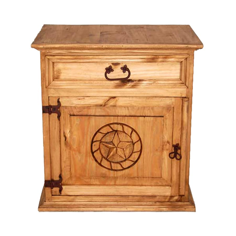 Million Dollar Rustic Mansion Natural Pine Nightstand