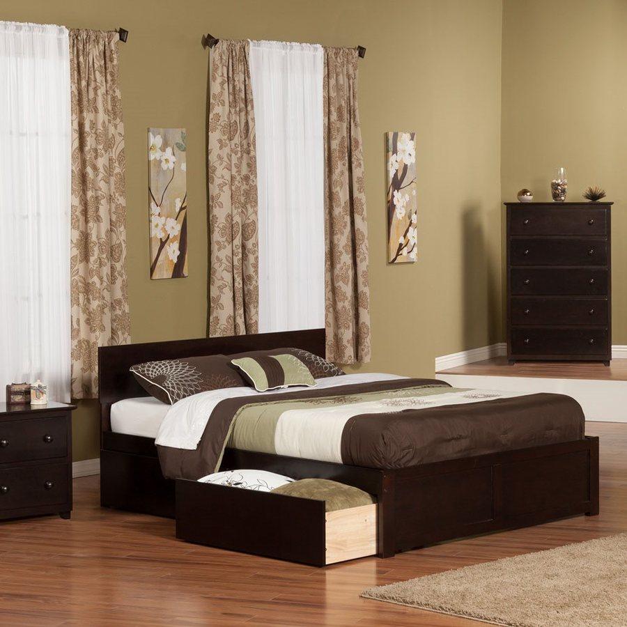 Atlantic Furniture Orlando Espresso Queen Platform Bed With Storage