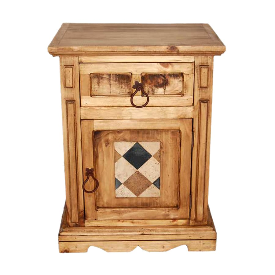 Million Dollar Rustic Acapulco Natural Pine Nightstand