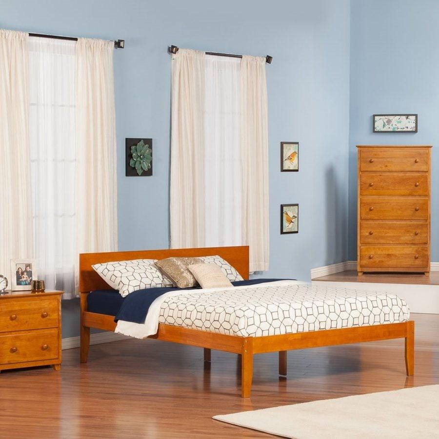 Atlantic Furniture Orlando Caramel Latte King Platform Bed