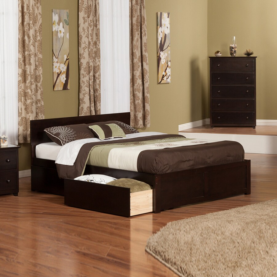 Atlantic Furniture Orlando Espresso King Platform Bed With