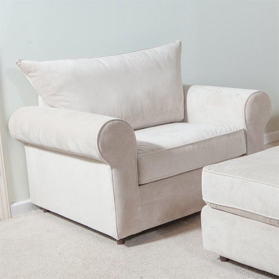 Chelsea Home Cork Modern Bella Buckwheat Polyester Accent Chair