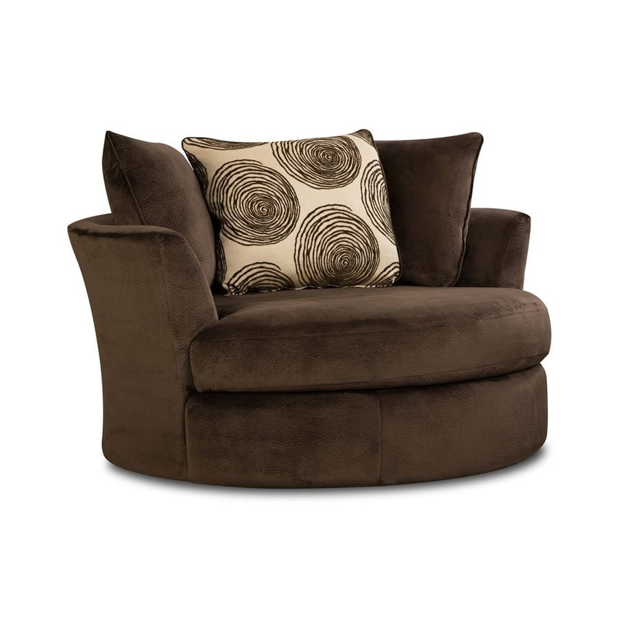 Chelsea Home Rayna Modern Grovy Chocolate Polyester Accent Chair