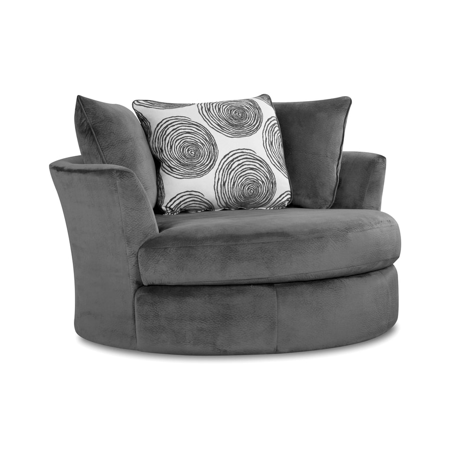 Chelsea Home Rayna Modern Grovy Smoke Polyester Accent Chair