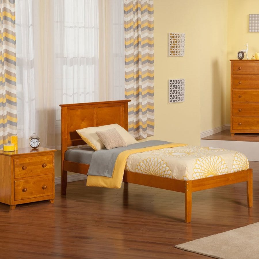 Atlantic Furniture Madison Caramel Latte Twin Xl Platform Bed