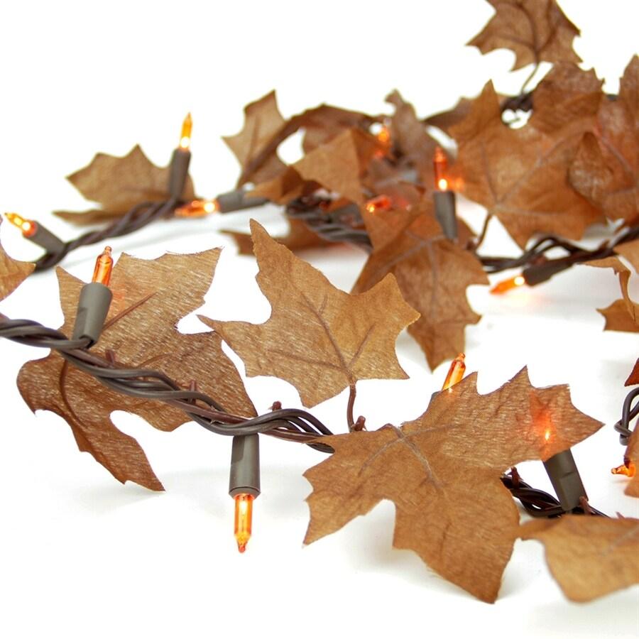 Northlight Autumn 11-ft L Indoor/Outdoor Pre-Lit Garland with Orange Lights